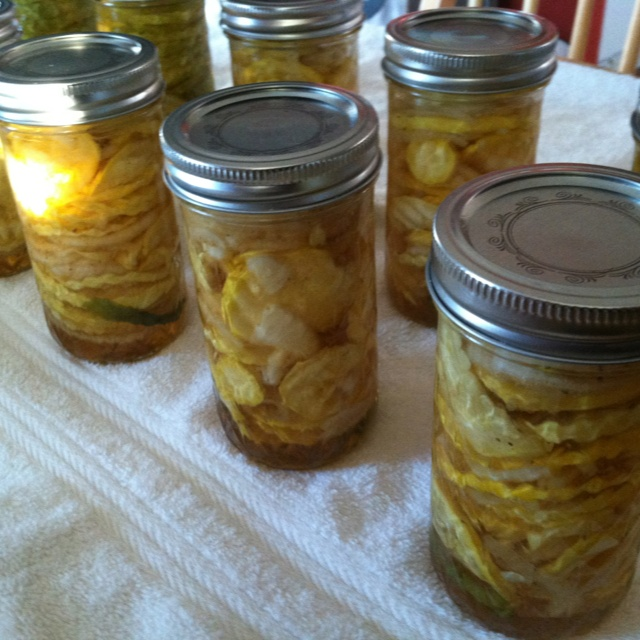 Pickled yellow squash. Now starting the figs.