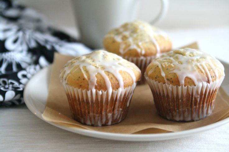 Lemon Poppy Seed Yogurt Muffins | Sweet! | Pinterest
