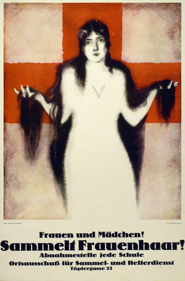 German military poster for requisition of women s hair world war i