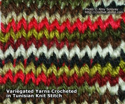 Crochet Stitches Variegated Yarn : Pin by Alison Campbell on Blanket patterns & stitches Pinterest
