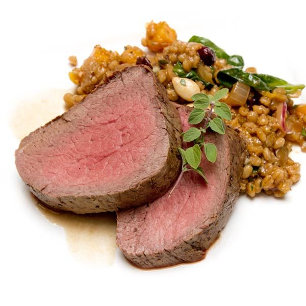 Roasted Beef Tenderloin With Butternut Squash & Farro Salad at ...