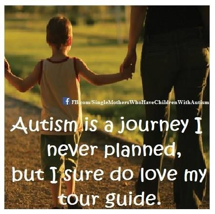 Autism is a journey I never planned, but I sure do love my tour guide. <3