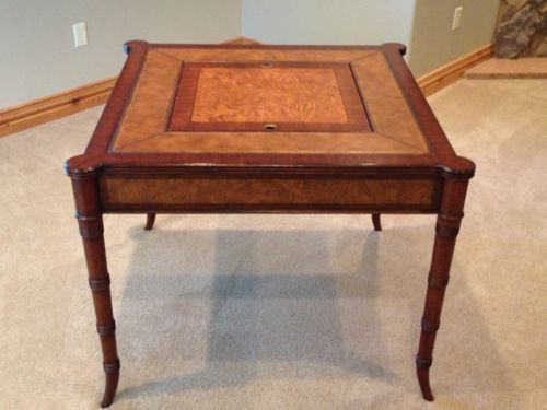 Ethan Allen Game Table | eBay | Living Room