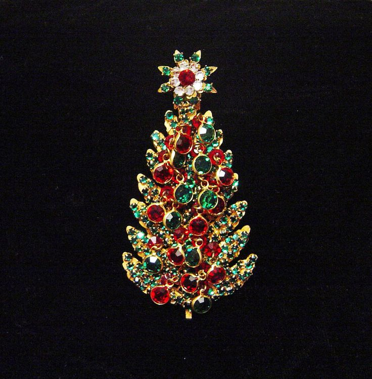 Haskell christmas tree pin w dangles sold quot as is quot miraimhaskell