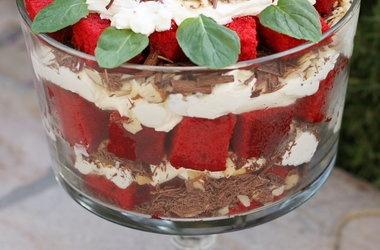 Red Velvet Cake Trifle — Punchfork   RED VEVLET ANYTHING   Pinterest
