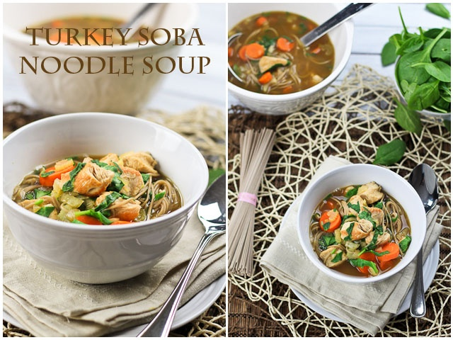 Clean Eating Turkey Soba Noodle Soup | The Healthy Foodie