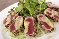 Pan Seared Ahi Tuna, Baby Beets and Watercress Salad with Ginger ...