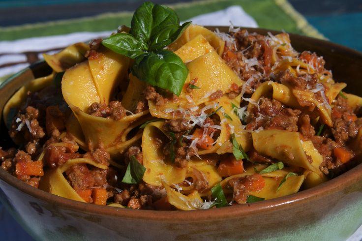 Pappardelle with Ragu Alla Bolognese Recipe