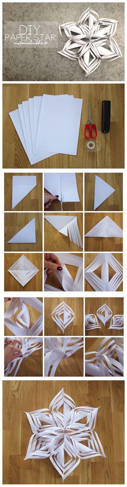 Diy paper star diy crafts pinterest for How to make a big paper star