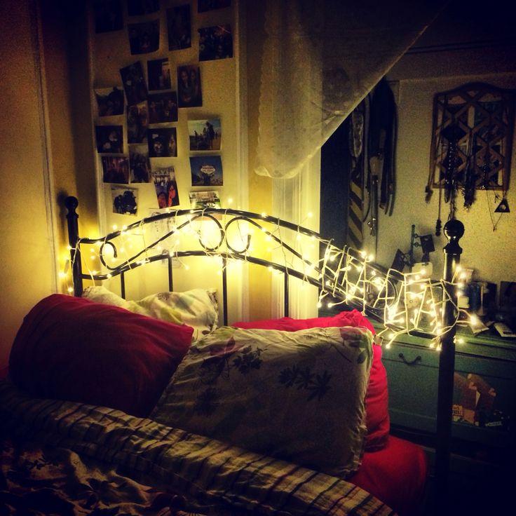 String Lights On Headboard : String lights/fairy lights on headboard Let s Make My Room Amazing