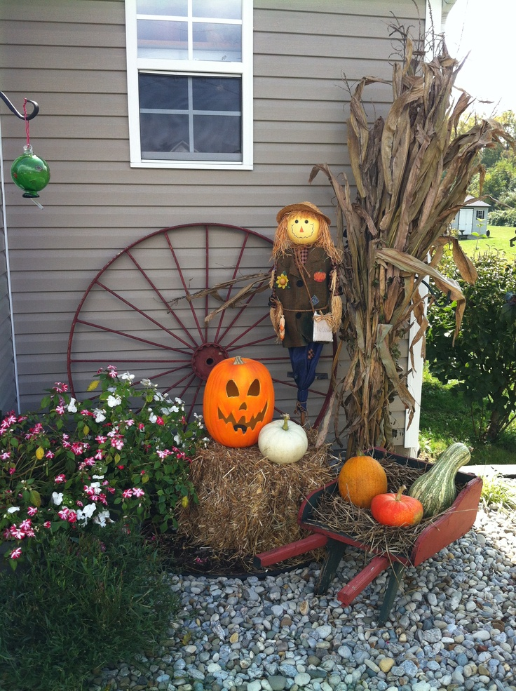 Outdoor Fall Decorating Fall Pinterest