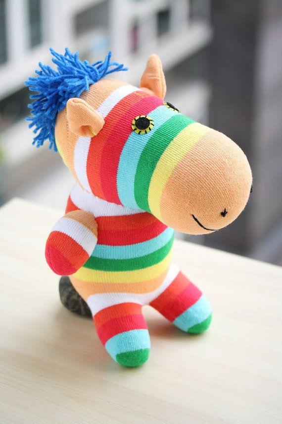T8 Фаршированная Zebra игрушка кукла плюша Цветные зебру на Toyapartment