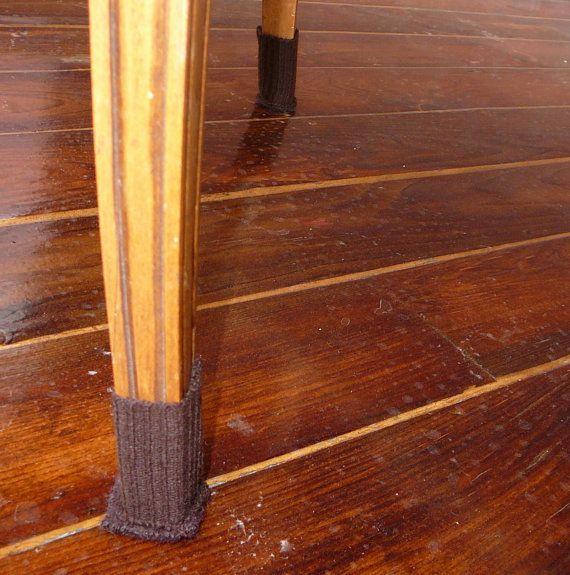 chair socks wool floor protectors by sewoiseau on etsy