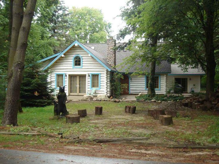 White Cedar Home With Stone Elements Log Homes Log