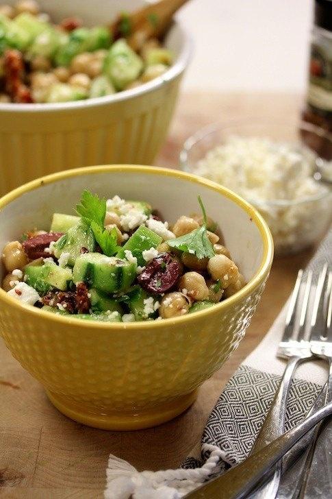 mediterranean chickpea salad | Salads | Pinterest