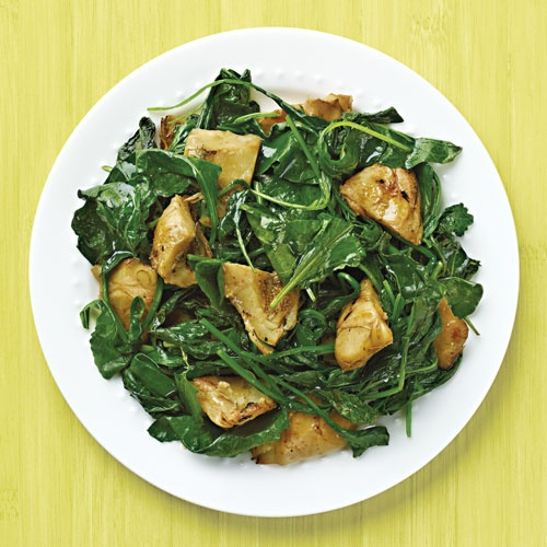Sauteed Baby Kale & Artichokes-Wegmans added some balsamic vinegar at ...