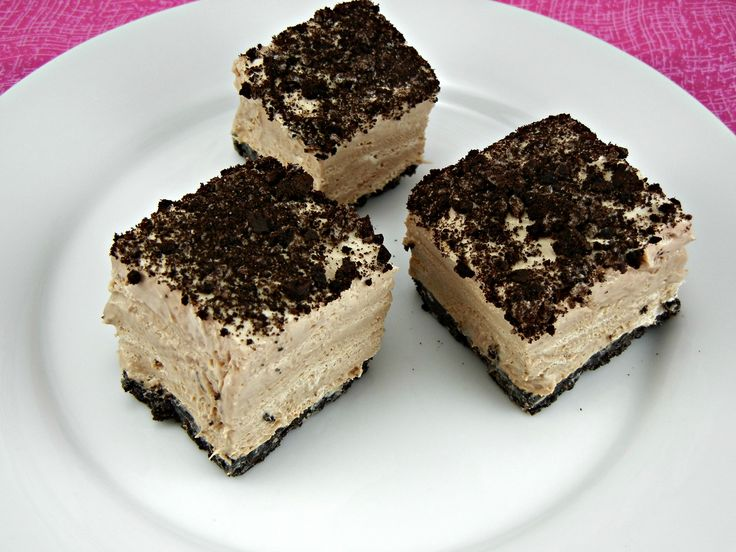 Frozen Toblerone Mousse Squares | Get in My Belly | Pinterest