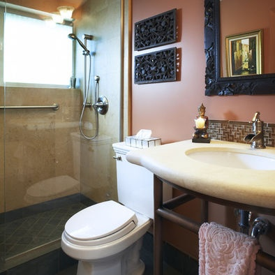 Pin by miranda rathburn on build this house into a home for Bathroom ideas earth tones