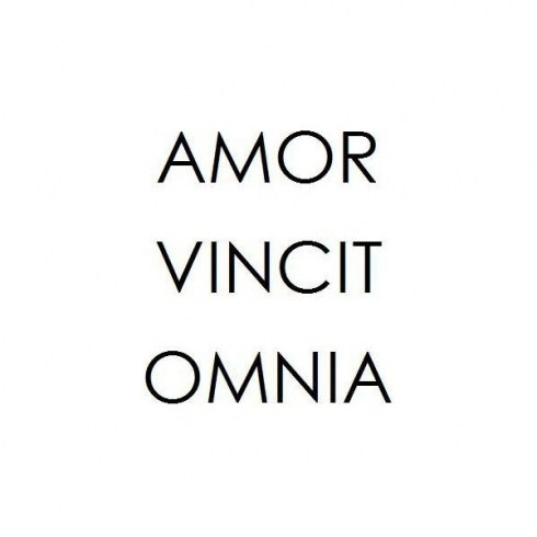 english definition omnia vincit amor