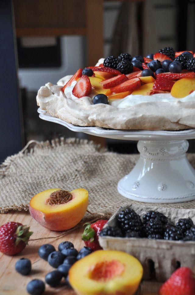 FOOD: Pavlova with Summer Fruit - Pavlova is a meringue based desert ...