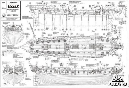 Как сделать фрегат своими руками чертежи и описание 43