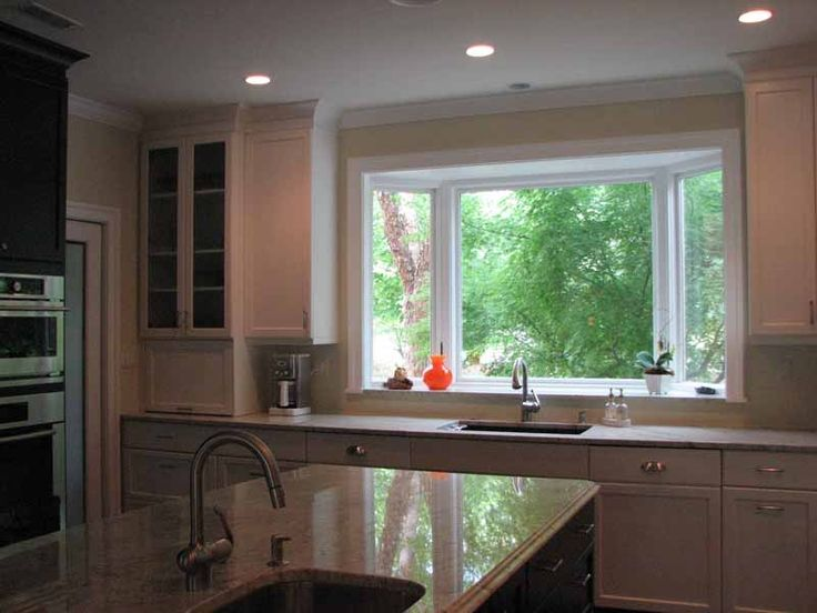 Bay window for kitchen windows doors pinterest for Bay window remodel