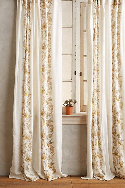 Bird Scroll Curtains