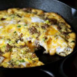 Enjoy breakfast, lunch or dinner; Cheesy Potato Frittata