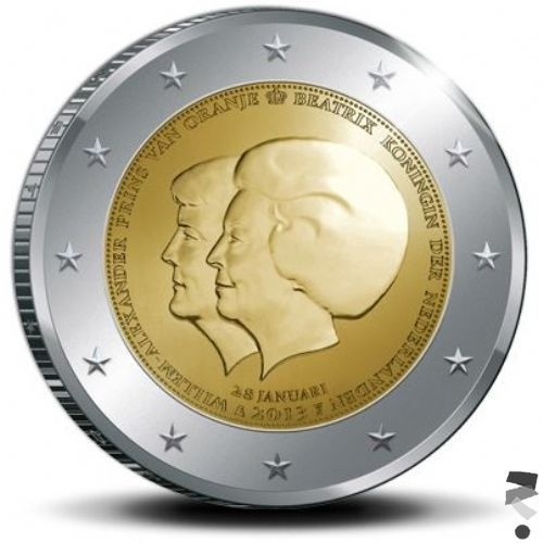 Nederland 2 euro 2013 Dubbelportret Troonswisseling Beatrix en Willem-Alexander