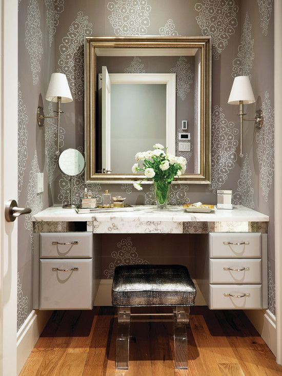 Elegant vanity dressing area on a whim pinterest for Bathroom designs with dressing area