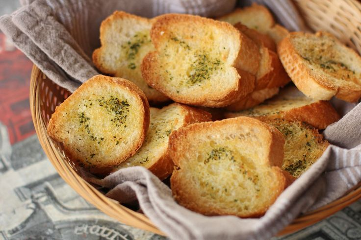 garlic croutons double garlic herb garlic bread breakfast garlic toast ...