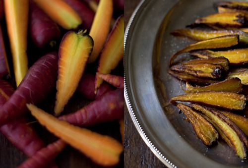 BAKED CARROT OVEN FRIES: A big bunch of carrots - washed and trimmed ...