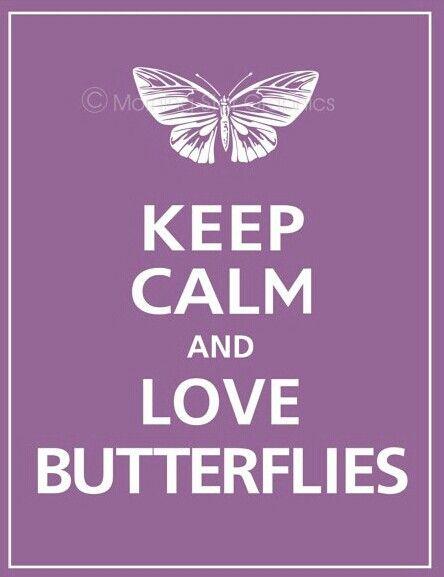 Keep calm love Butterflies