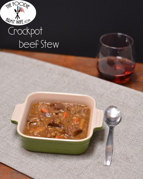 Crockpot Beef Stew | Fall apart tender beef in a rich, delicious stew.