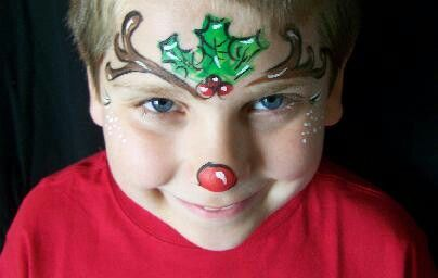 Holly reindeer face painting pinterest
