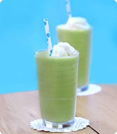 Avocado Milkshake- I used raw honey as my sweetener