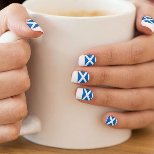 Scotland Independence Scottish Flag Nail Art