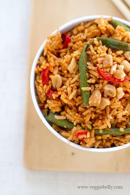 Quick Thai curry rice w/o coconut milk. #vegetarian