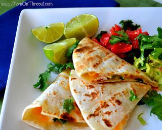 Grilled Shrimp Quesadillas Recipe-- Use lowfat cheese, opt for whole ...