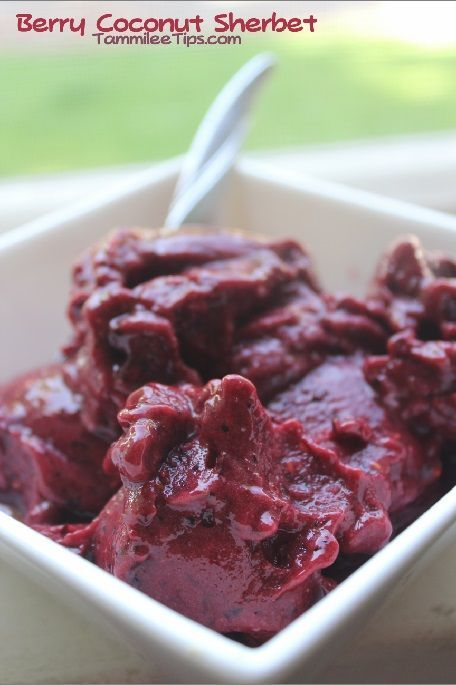 Berry and Coconut Sherbet Recipe! | Food. | Pinterest