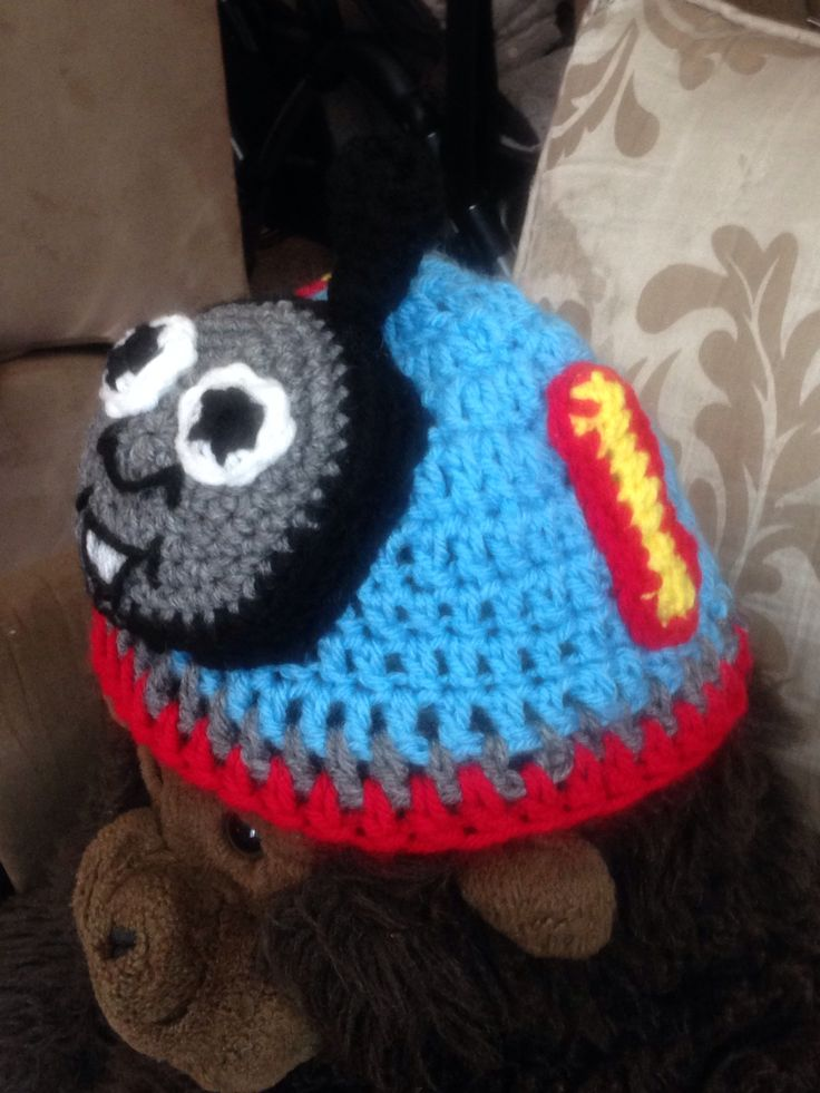 Free Crochet Hat Pattern For Thomas The Train : Crochet Thomas the Train Crochet hats Pinterest