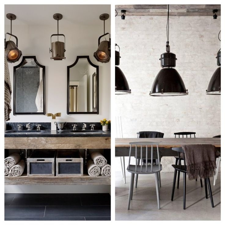 Industrial Chic Interiors Loft Homes Pinterest