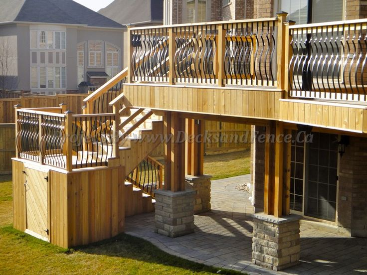 deck stairs with landing porch deck patio and pergola pinterest