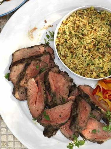 Grilled Butterflied Leg of Lamb with Piperonata | Recipe