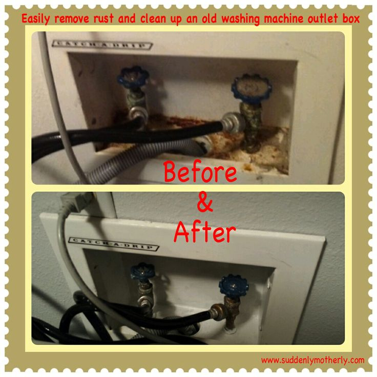 replace washing machine outlet box