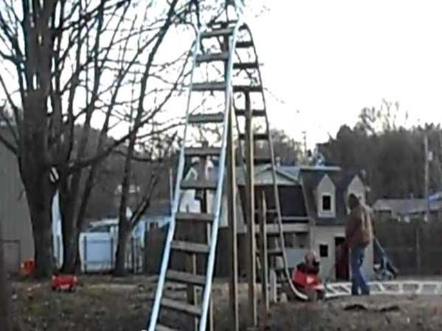 Kid Roller Coaster In Backyard : roller coasters