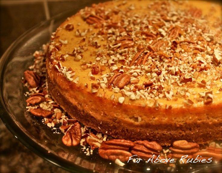 the best Pumpkin cheesecake...ooooh maybe a Thanksgiving dessert.