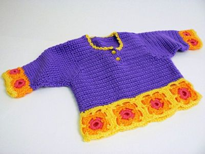 Crochet Granny Square Sweater Pattern : free pattern crocheted baby sweaters Pinterest