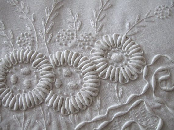 Coronation cord embroidered flowers