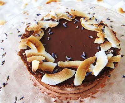 Little Dark Chocolate Coconut Lavender Tarts